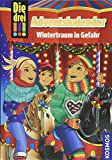 Die drei !!!, Wintertraum in Gefahr: Adventskalenderbuch mit Extra Geschenkpapier