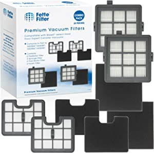 Fette Filter - Filter Set Compatible with Bissell Hard Floor Expert Canister Vacuum Series 1154 & 1161 Contains- 2 PreMotor 2 Sponge 2 Post Motor 2 Foam Part #s 1602084, 1602085, 1602086, 1602094.