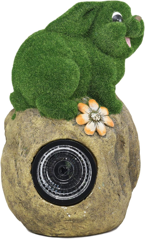 Ebros Large Whimsical Snail On Rock Garden Statue with Solar LED Light
