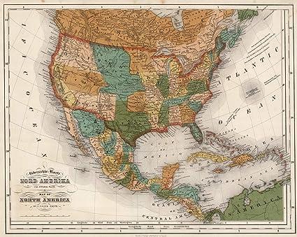 Amazon.com: National Atlas | 1852 United States, Mexico, Central ...