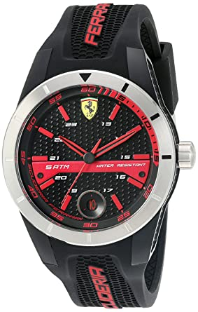 c6ff41341c9 Image Unavailable. Image not available for. Color  Ferrari 830253  RED REV T   Quartz Resin and Silicone Watch