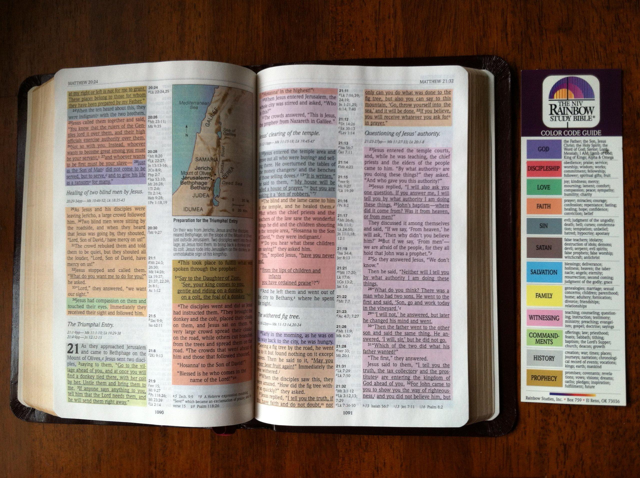 rainbow study bible niv