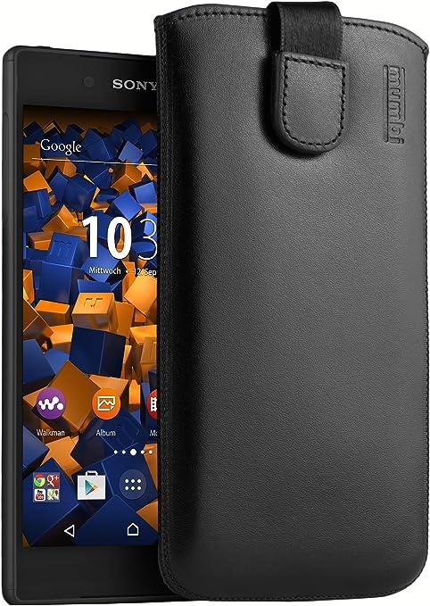 Mumbi Echt Ledertasche Für Sony Xperia Z5 Tasche Leder Elektronik