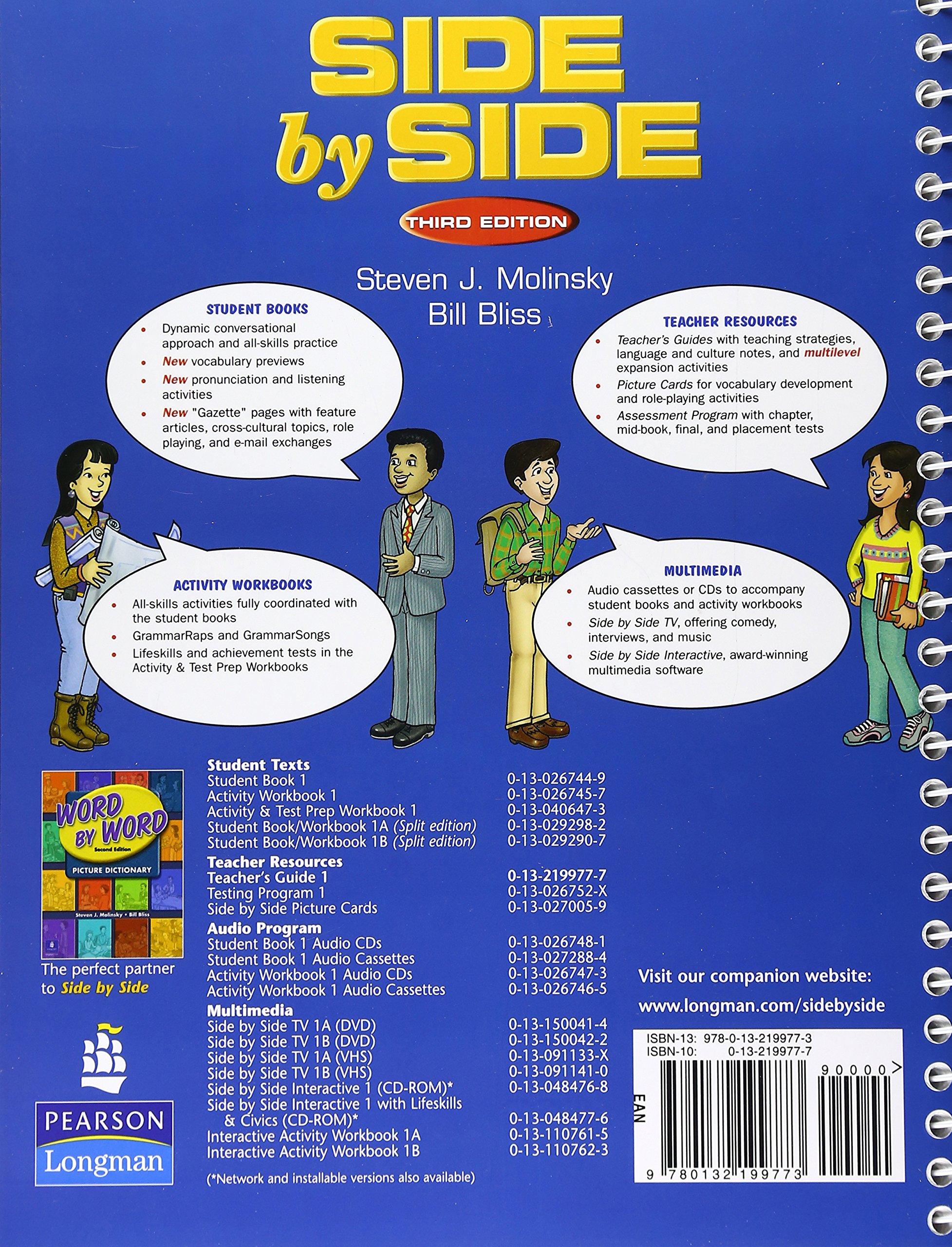 Side by Side: Teacher's Guide, 3rd Edition: Steven J. Molinsky, Bill Bliss:  9780132199773: Amazon.com: Books