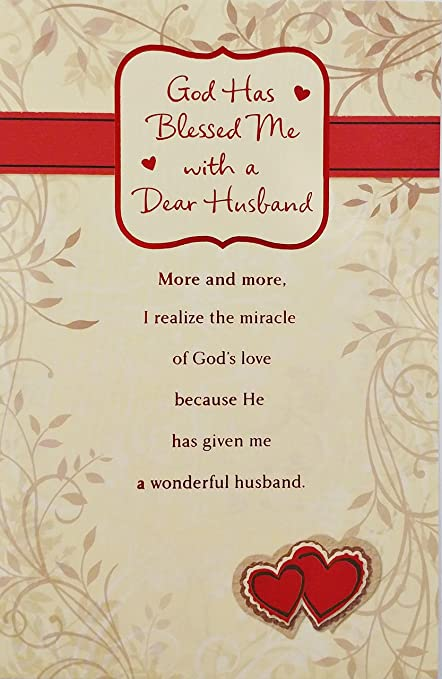 Amazon god has blessed me with a dear husband religious god has blessed me with a dear husband religious happy valentines day greeting card m4hsunfo