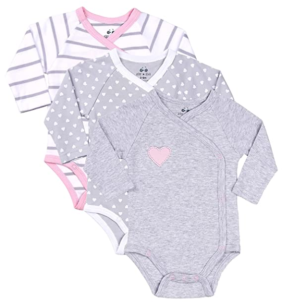 Amazon Com Asher And Olivia Baby Girls 3 Piece Long Sleeve Kimono