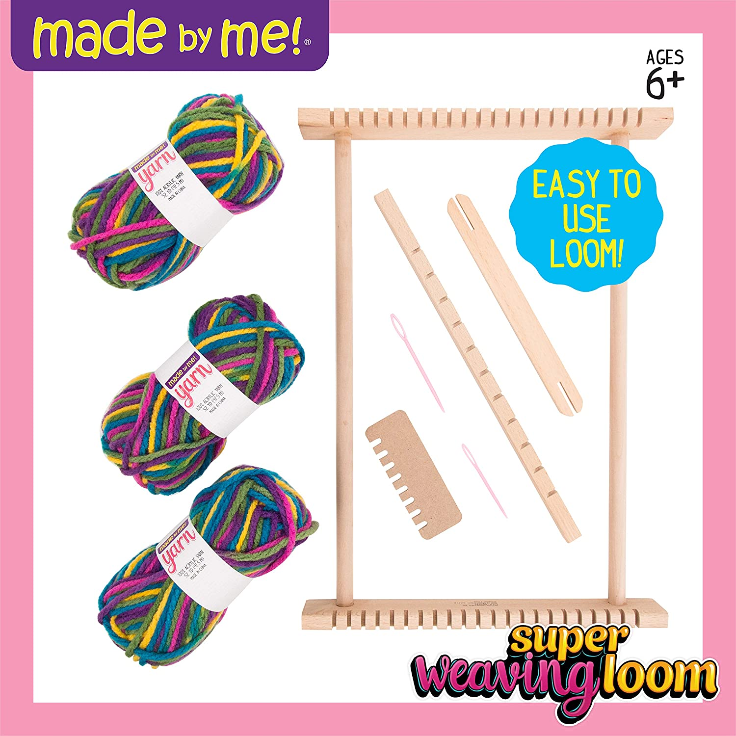 Made By Me Super Weaving Loom by Horizon Group USA 765940662847
