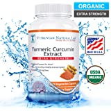 Turmeric Curcumin - Advanced Extra Strength (Organic Compliant) - Vegan 100% Natural - 1500mg/serving - With BioPerine Black Pepper Extract -120 Capsules (Veggie) - Strongest Available in the Market