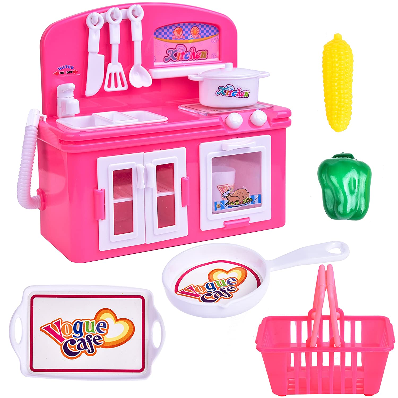 a1611e9f7d4b4 Amazon.com  FUN LITTLE TOYS Toy Kitchen Appliances for Girls
