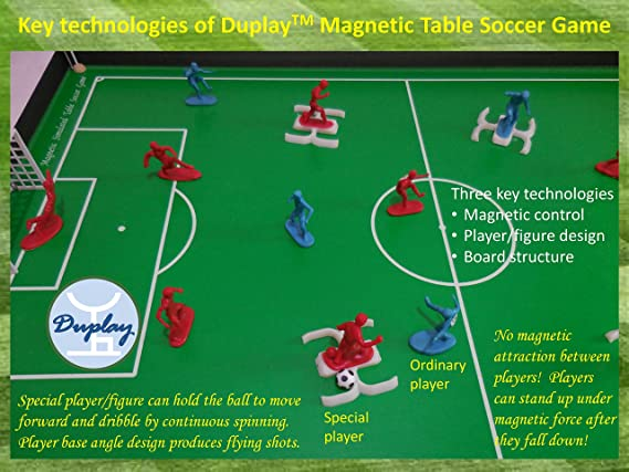 f9fd343f8 Amazon.com   Duplay Magnetic Table Soccer Football Foosball Game Sports Toy  (Medium Size) - Magnetic Game Soccer Match Table Game Toy Board Sports  Tabletop ...