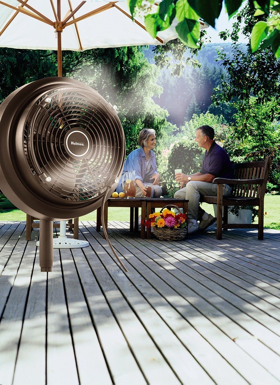 amazon com holmes hpf1010a nm outdoor misting fan home u0026 kitchen