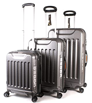 db6d350340 Titanium Jeep Dune High-Quality Water Resistant 4 Wheeled Luggage Set of 3:  Amazon.co.uk: Luggage