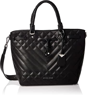 Michael Kors 30S9SZLM8I-001 Blakely Medium Quilted Leather Bucket Bag, Black