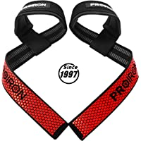 PROIRON Weight Lifting Straps, Padded Wrist Support with Non Slip Flex Gel Grip, Great for Powerlifting, Bodybuilding…