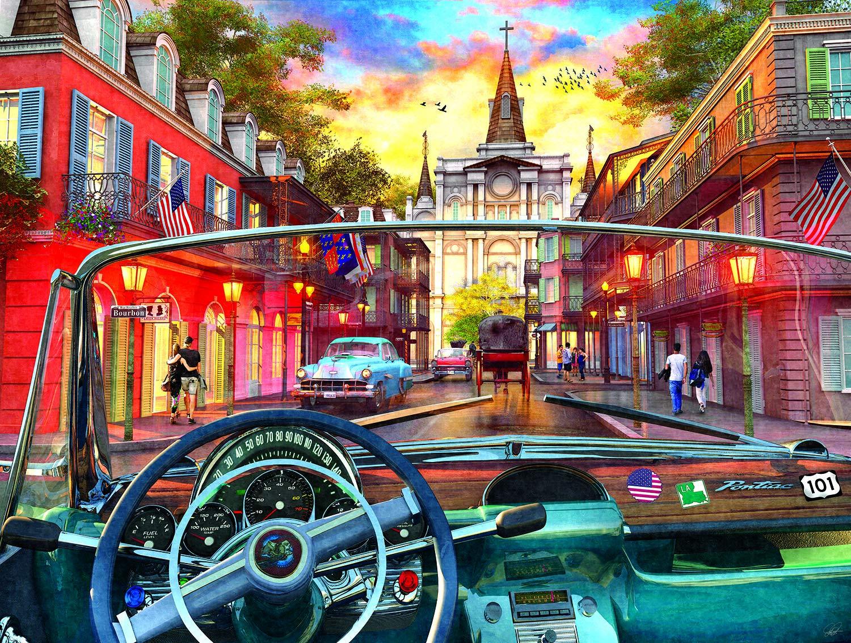 完売 Sunsout on 2019 Window on Sunsout New Orleans アーティストDominic Davison 500ピース B07MZHG3QW ストリートシーン ジグソーパズル B07MZHG3QW, オカドン:3afd0b64 --- a0267596.xsph.ru