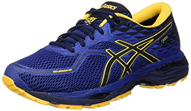 Asics Gel Cumulus 19 Gore-Tex Homme Limoges / Peacoat / Gold Fusion - Chaussures Chaussures-de-running Homme