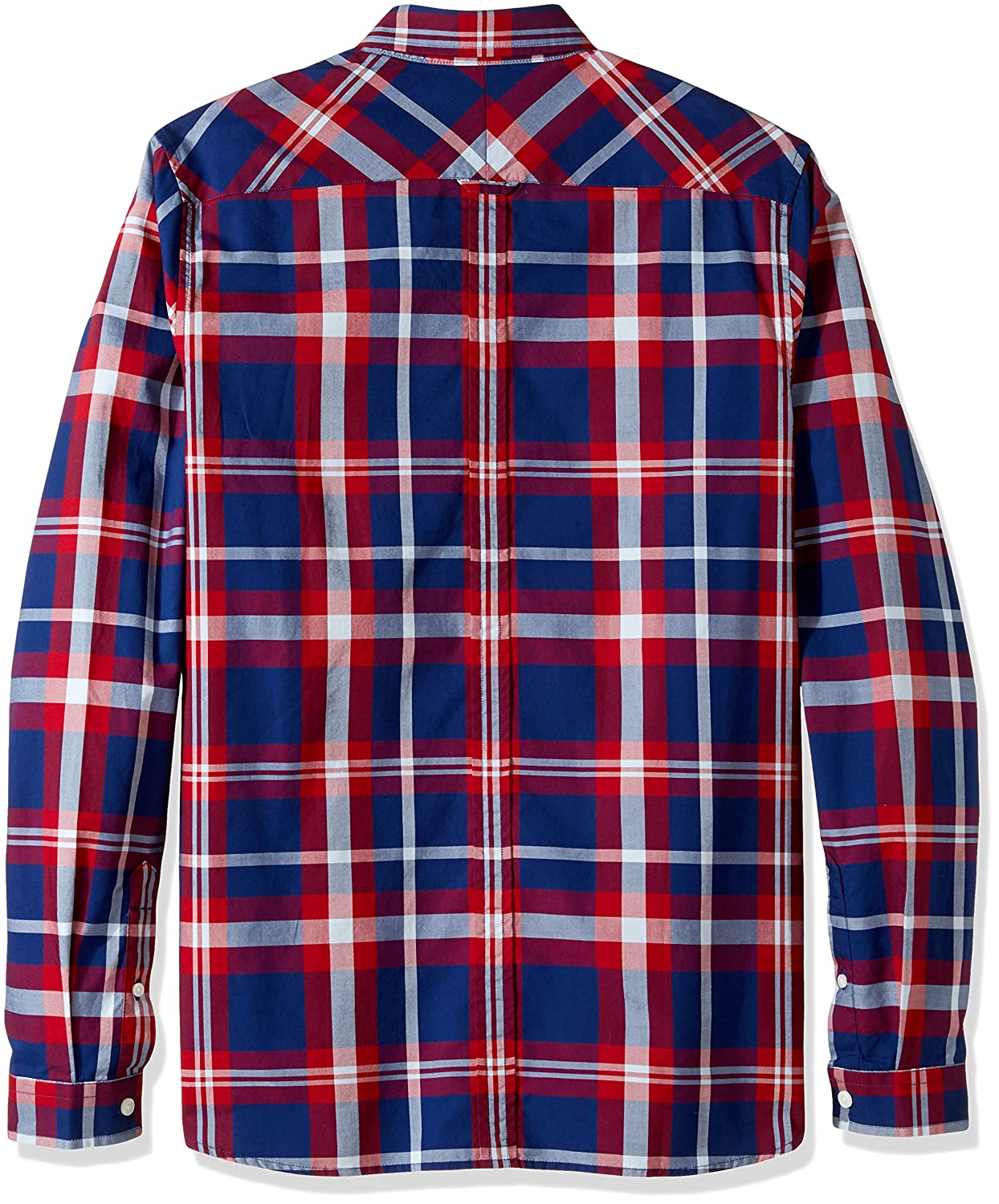 8c118e0df3bc Amazon.com: Fred Perry Men's Bold Check Shirt, England Red, X-Small:  Clothing