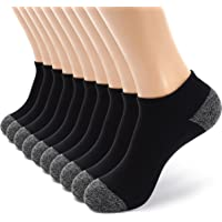 M Monfoot 10/20 Pairs Cotton Slim Fit Breathable & Thick Cushioned Ankle Socks for Men and Women