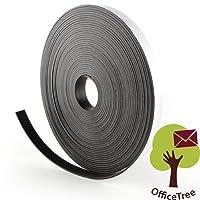 Nastro magnetico OfficeTree  - 10 m - adesivo e adatto per poster, foto e fogli - tenuta ottimale su lavagne magnetiche e bacheche - nero