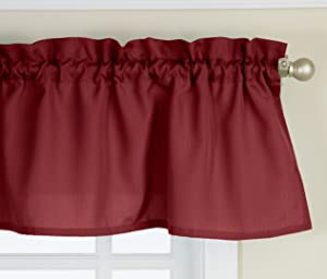 Lorraine Home Fashions Ribcord Valance, 54-Inch x 12-Inch, Wine