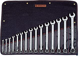 "product image for Wright Tool 915 Full Polish 12 Point Combination Wrench Set 5/16"" - 1-1/4"" (15-Piece),Silver"