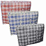 6 X LARGE STRONG LAUNDRY STORAGE SHOPPING BAG REUSABLE STORE ZIP BAGS NEW