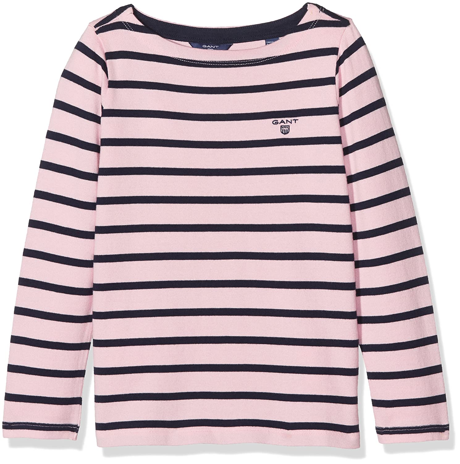 Gant Girl's Breton Boatneck Sweater Long Sleeve Top: Amazon.co.uk: Clothing