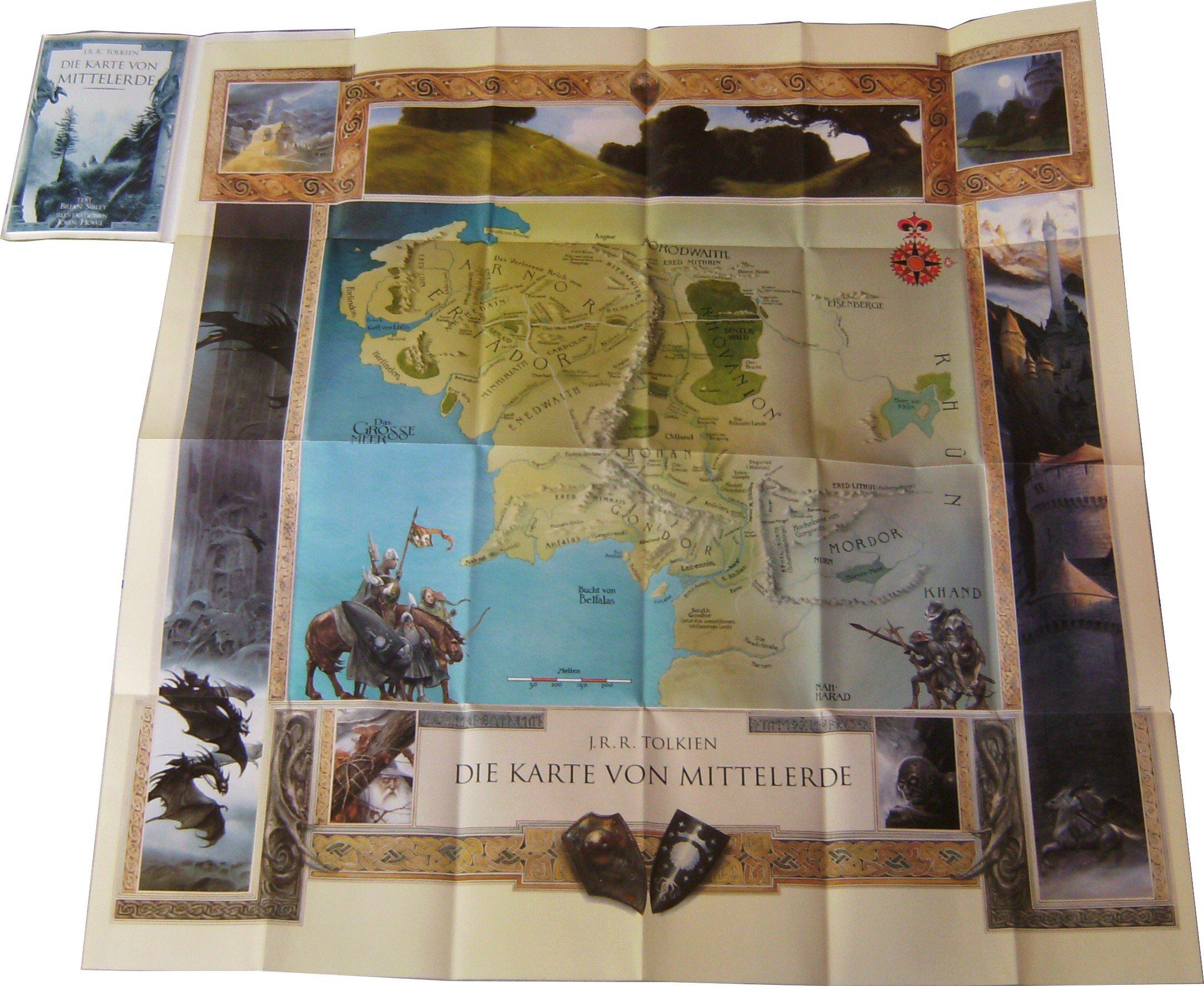 Mittelerde Karte 4k.Die Karte Von Mittelerde Amazon De John R R Tolkien