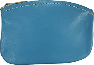 product image for North Star Men's Large Leather Zippered Coin Pouch Change Holder (5 X 3.5 X 0.25, Turquoise)