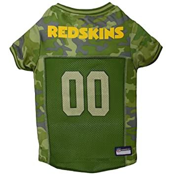 Football Dog Jersey Camouflage Available in 32 NFL Teams   5 Sizes. Cuttest  Hunting Dog Dress! Camouflage Pet Jersey with Team Logo. by Pets First ff91c3752