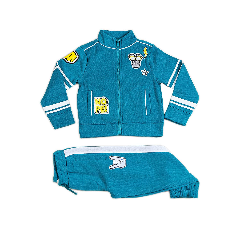 Sizes 2T-3T-4T-5T-6-7 Kinderkind Boys Jogger Pants and Active Jacket Set