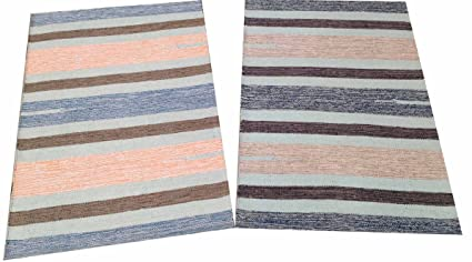CB - Handwoven Cotton Rugs, Multy, 2X3 Ft - 2 Pieces