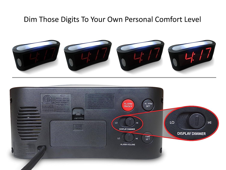 Amazon.com: Reloj despertador digital LED Travelwey ...