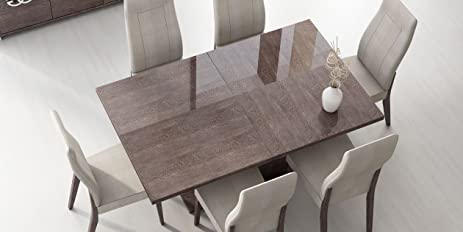 ESF Prestige High Gloss Wenge Lacquer Dining Table W/ Extension Made In  Italy