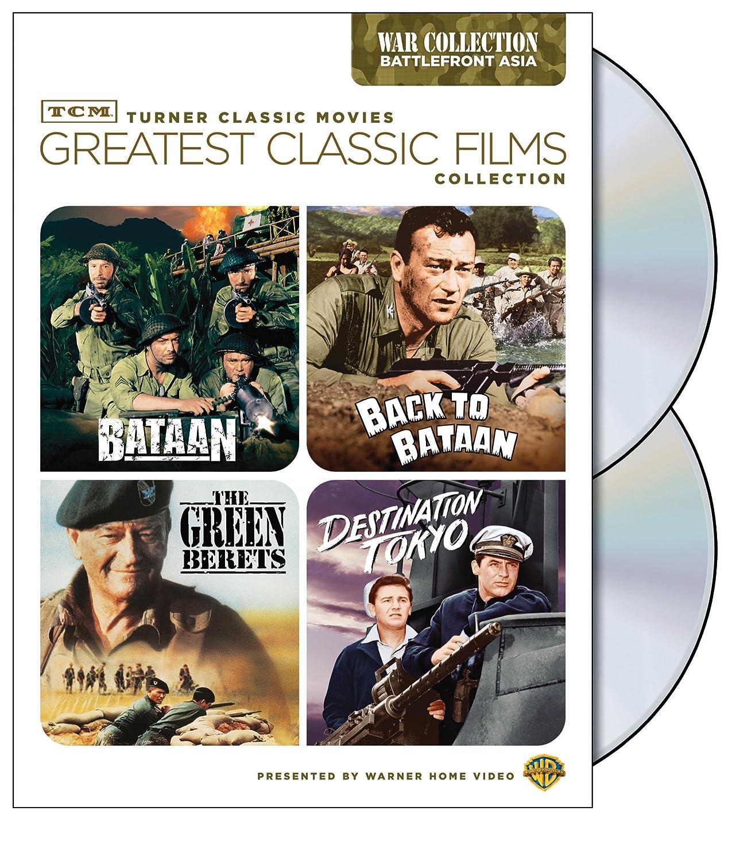 TCM Greatest Classic Films Collection: War - Battlefront Asia (Bataan / Back to Bataan / The Green Berets / Destination Tokyo) Robert Taylor John Wayne Cary Grant Warner Bros. Home Video