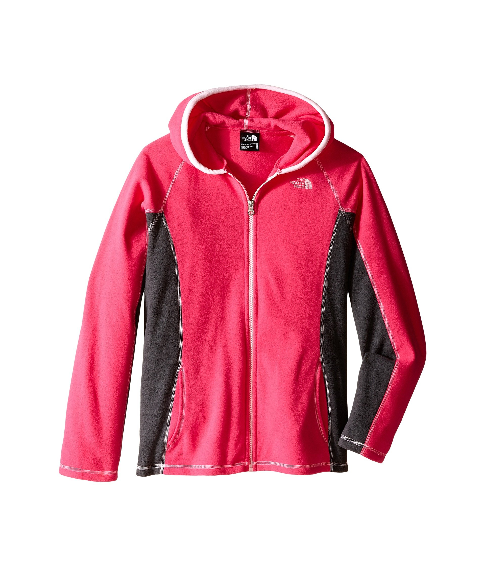 The North Face Glacier Full Zip Hoodie Girls' Cabaret Pink Large