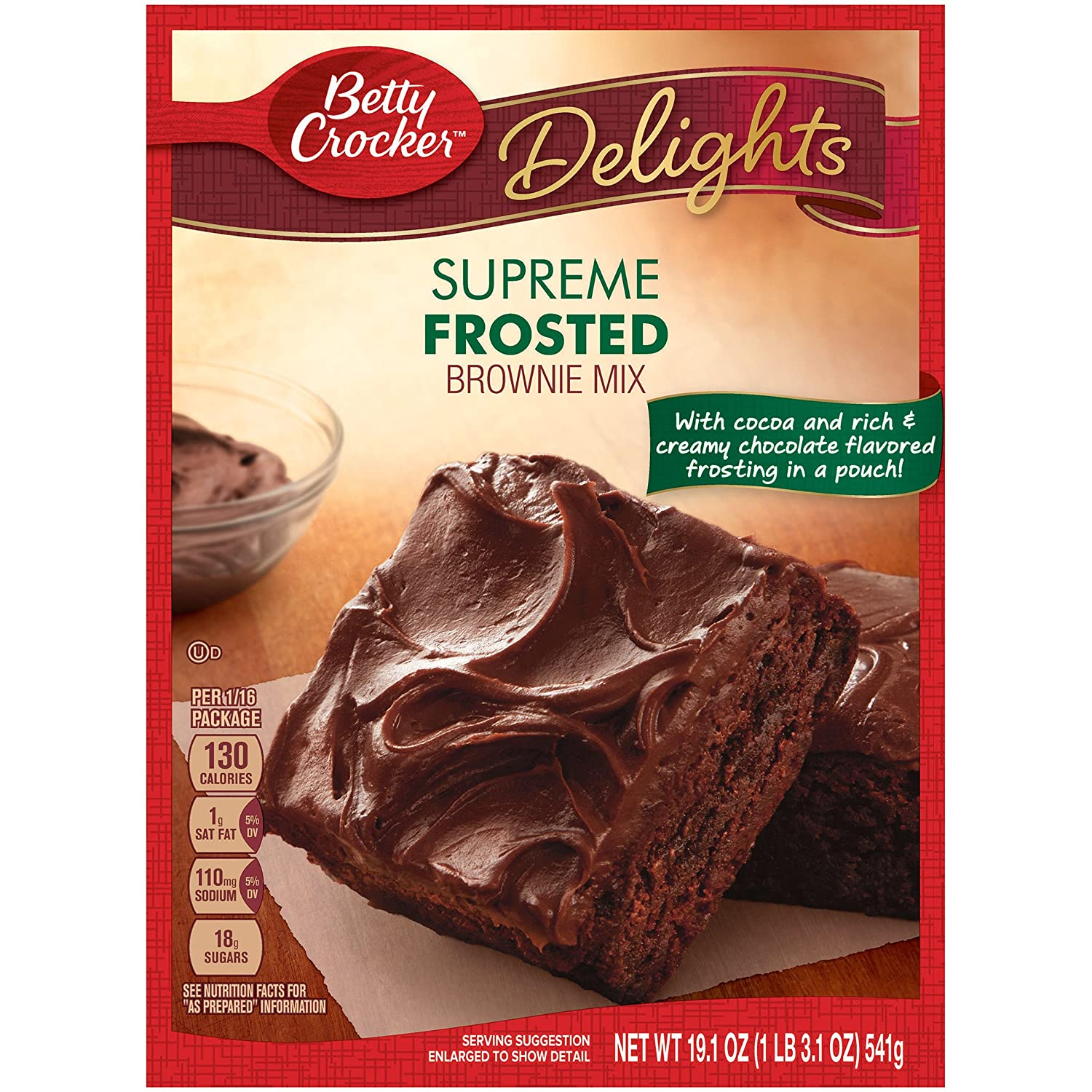 Betty Crocker Delights Brownie Mix Supreme Frosted 19,1 oz ...