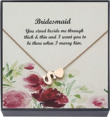 Wedding Gift Gift For Wife Heart Necklace Couples Necklace Bridesmaid Gift for Bride Heart Necklace Bridal Shower gift Personalized