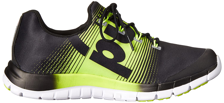 Reebok Zpump Fusion Womens Running Shoe 10.5 Black-Solar Yellow-White
