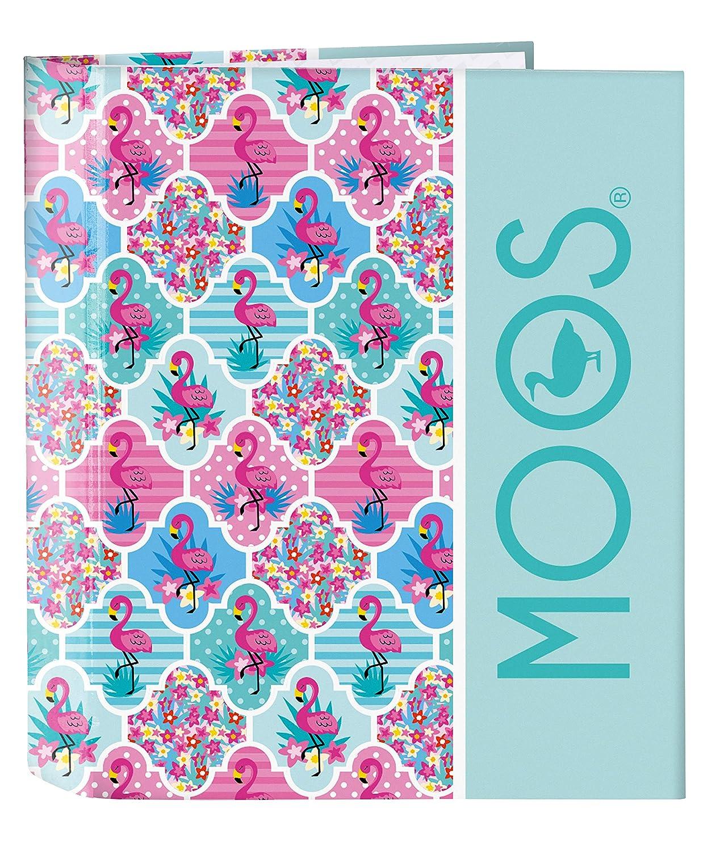 Moos Flamingo Turquoise Official Folder Folio 4 Rings 270 x 60 x 330 mm