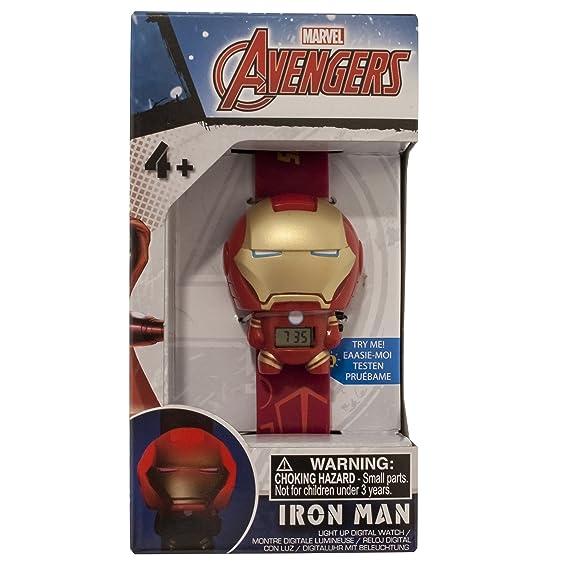 Amazon.com: BulbBotz 2021142 Marvel Iron Man Light Up Watch: Bulb Botz: Watches