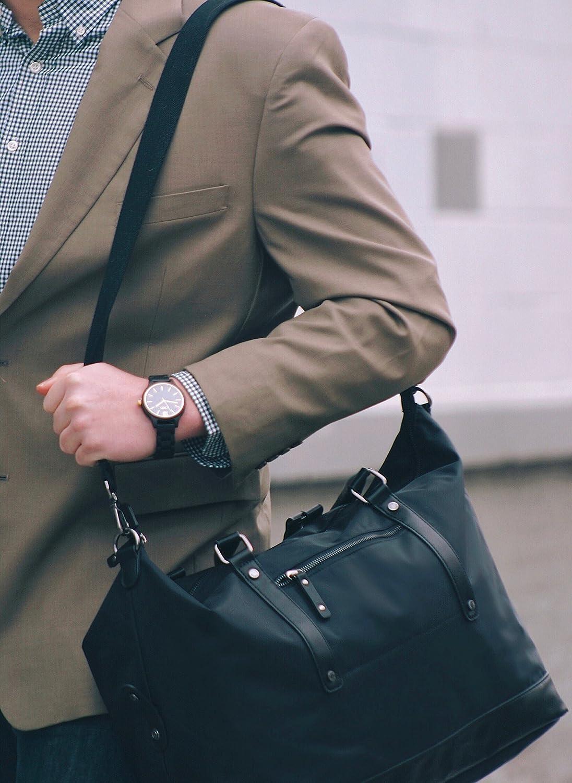 ECOSUSI Duffel Bag Weekender Overnight Bag Large Travel Tote Shoulder Bag with Trolley Sleeve for Men /& Women Blue