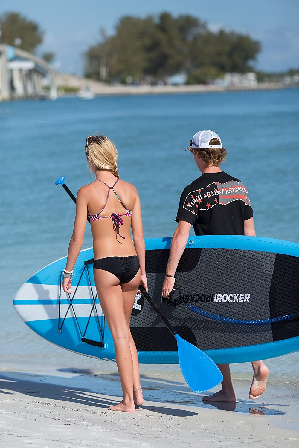 Paquete SUP de tabla de surf de remo hinchable iROCKER ALL-AROUND, 10 largo, 32