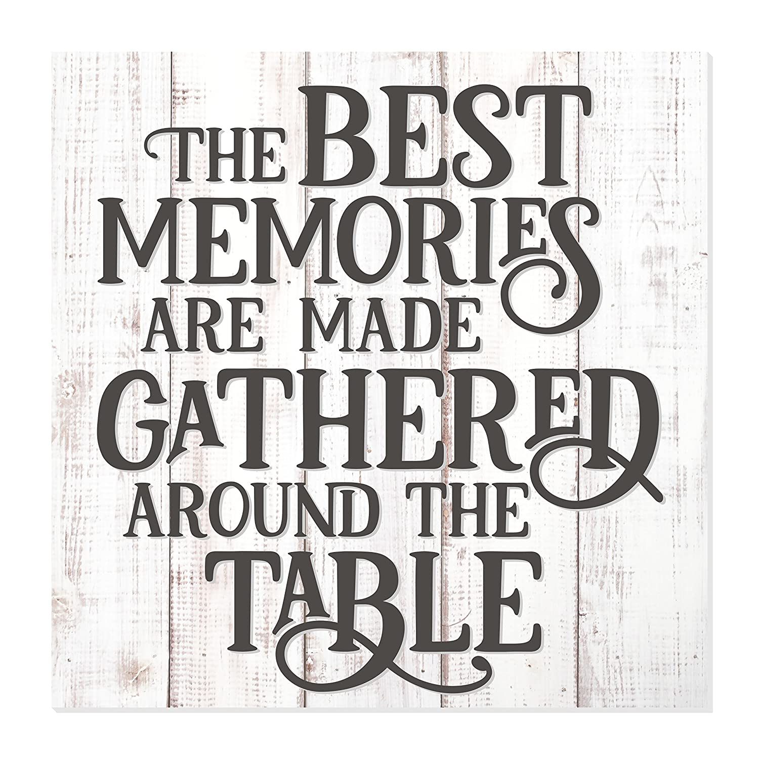 The Best Memories are Made Gathered at The Table Rustic Wood Wall Sign 12x12