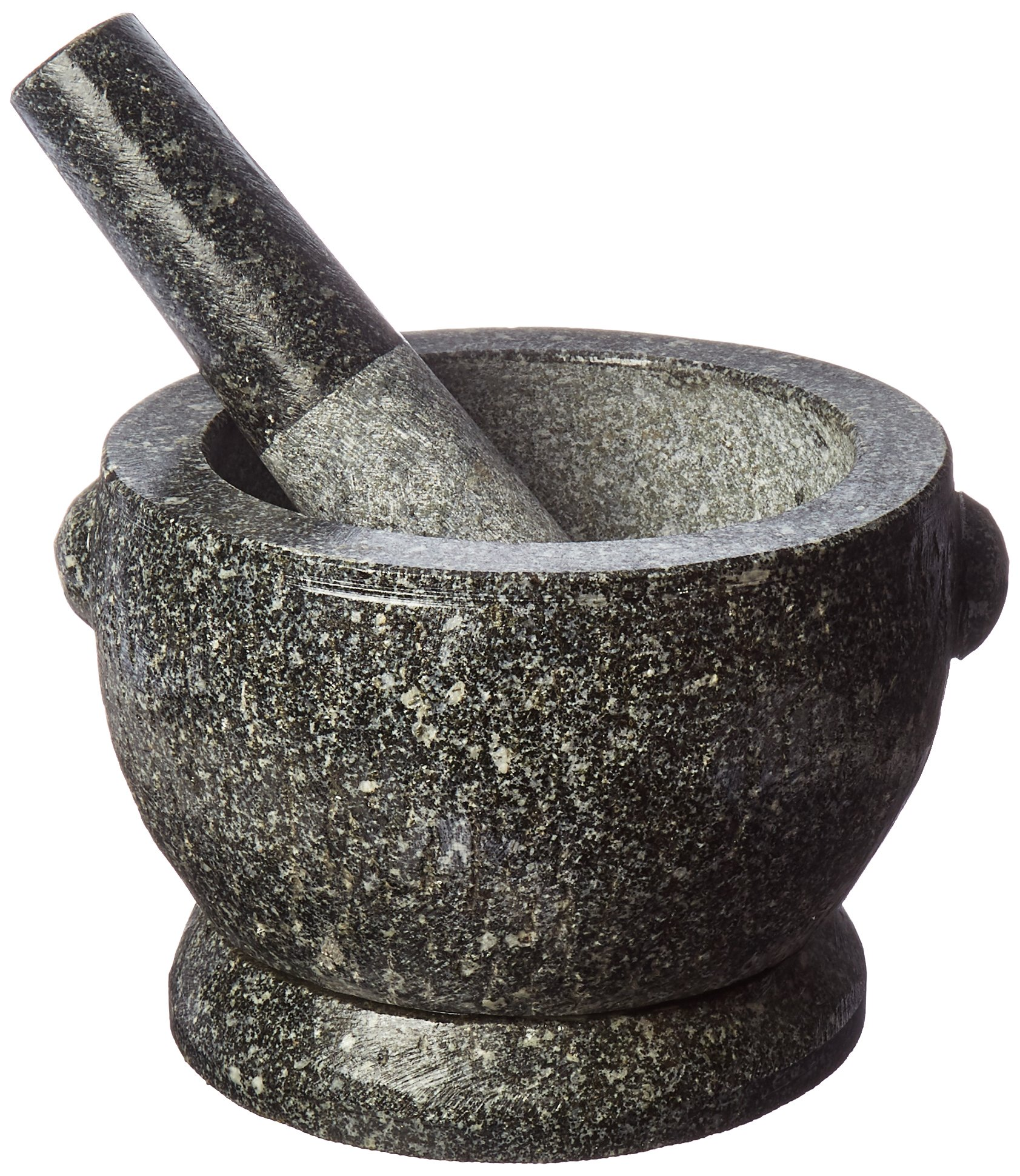 Large 8 Thai Granite Mortar and Pestle and The proper view by TastePadThai