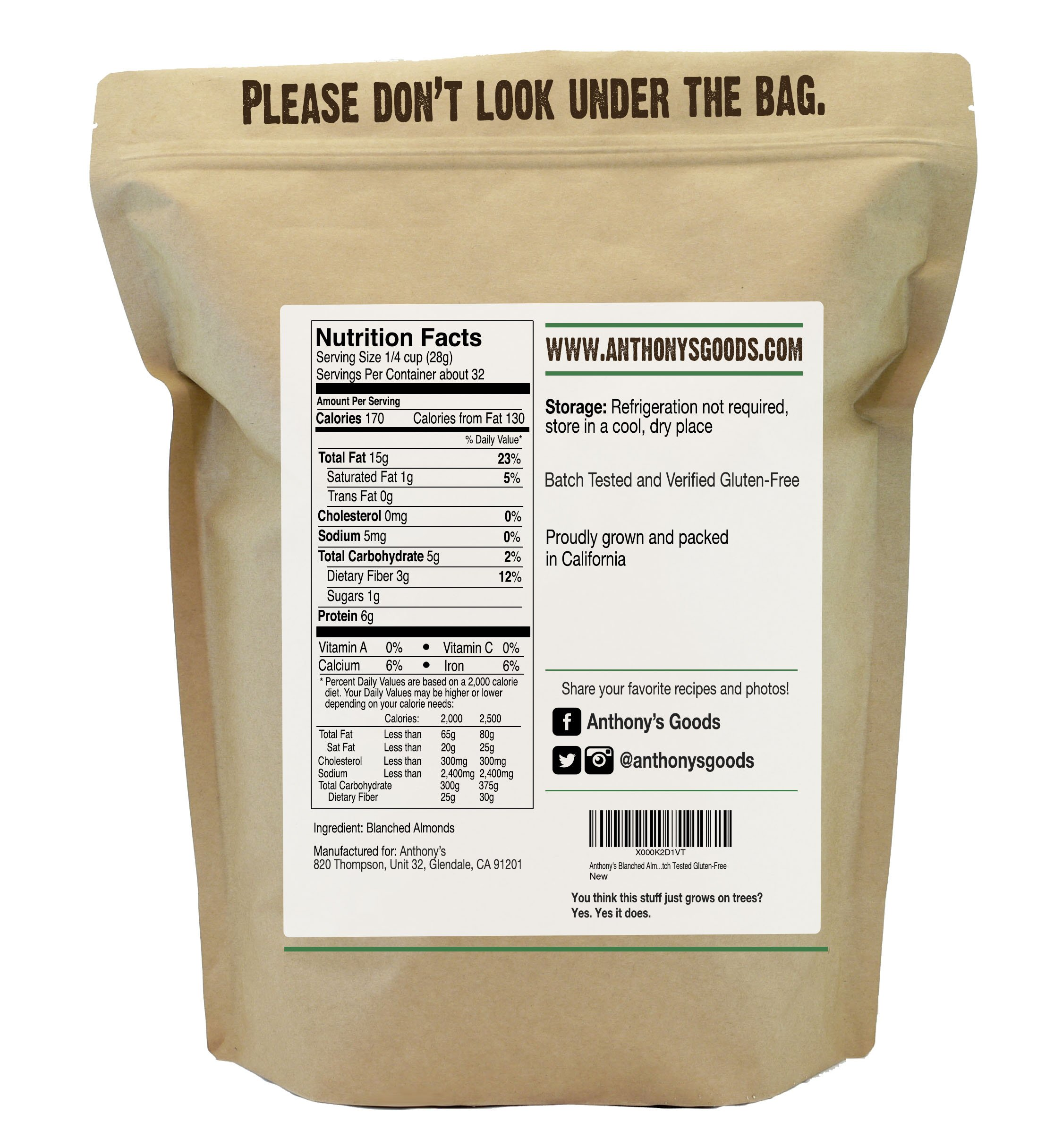 Almond Flour Blanched (2lb) by Anthony's, Batch Tested Gluten-Free by Anthony's (Image #4)