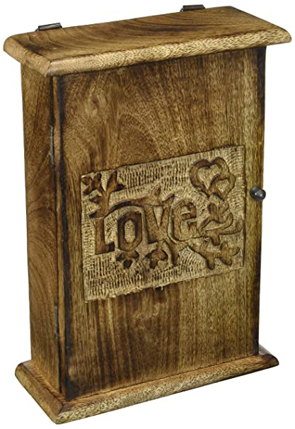 SouvNear Key Box Holder - Premium Quality - Decorative Wooden Vintage Look  Wall Mount Key Cabinet - Amazon.com: SouvNear Key Box Holder - Premium Quality - Decorative