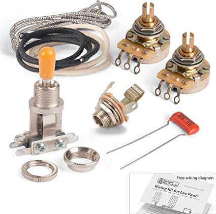 les paul toggle switch wiring diagram amazon com golden age premium wiring kit for 2 pickups with  golden age premium wiring kit