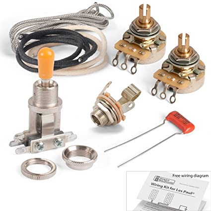 amazon com: golden age premium wiring kit for 2-pickups with toggle switch:  musical instruments