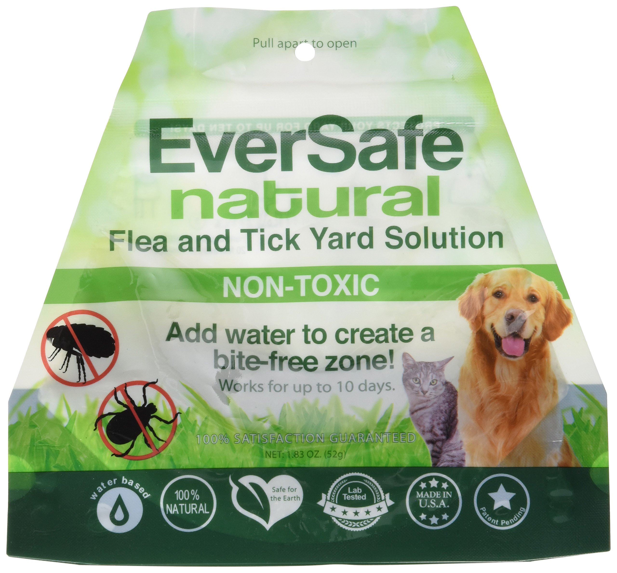 EverSafe ESFTY Natural Flea & Tick Yard Solution Home-Pest-Repellent, Green/White by EverSafe (Image #1)